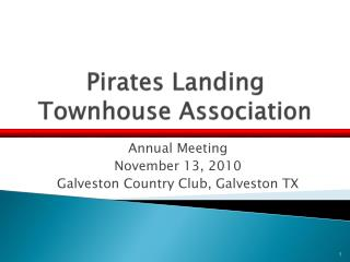 Pirates Landing Townhouse Association