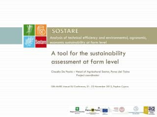 A tool for the sustainability  assessment at farm level