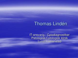 Thomas Lindén