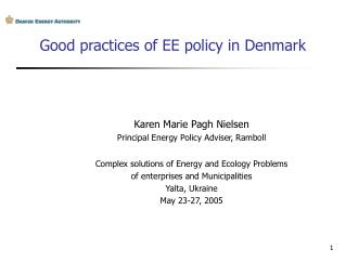 Good practices of EE policy in Denmark