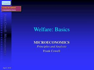 Welfare: Basics