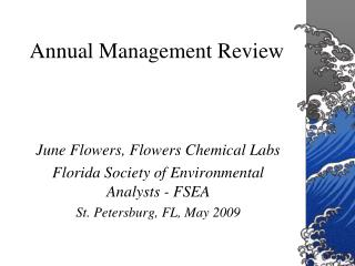 Annual Management Review