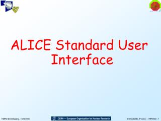 ALICE Standard User Interface