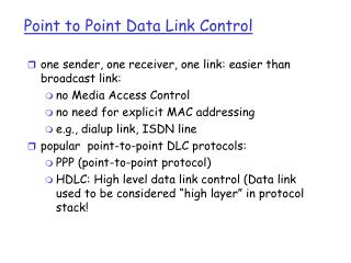 Point to Point Data Link Control