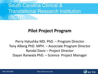 South Carolina Clinical & Translational Research Institution (SCTR)