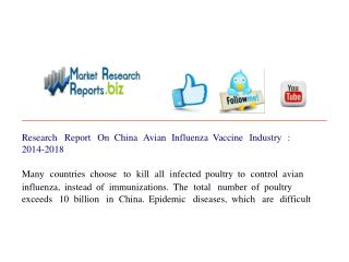Research Report On China Avian Influenza Vaccine Industry :