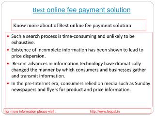 The best portal of best online fee payment solution