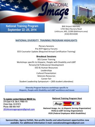National  Training  Program September 22 -25, 2014