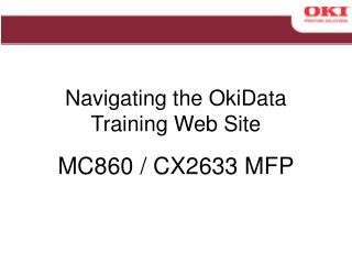 Navigating the OkiData Training Web Site