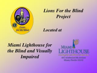 Lions For the Blind  Project