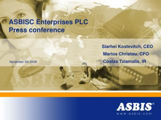 ASBISC Enterprises PLC Press conference