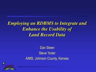Employing an RDBMS to Integrate and Enhance the Usability of  Land Record Data