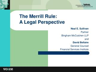 The Merrill Rule: A Legal Perspective