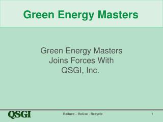 Green Energy Masters