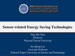 Sensor-related Energy Saving Technologies