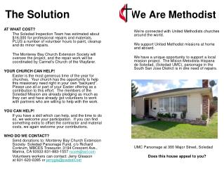 The Solution		              We Are Methodist
