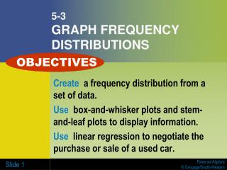 5-3 GRAPH FREQUENCY DISTRIBUTIONS
