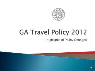 GA Travel Policy 2012