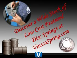 Discover a Wide Stock of Low Cost Featured Disc Springs