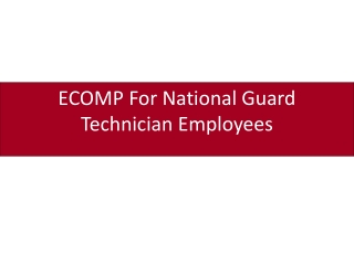 ECOMP For National Guard Technician Employees