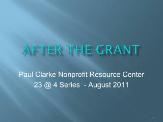 After  the Grant