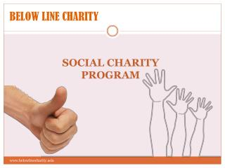 BELOW LINE CHARITY