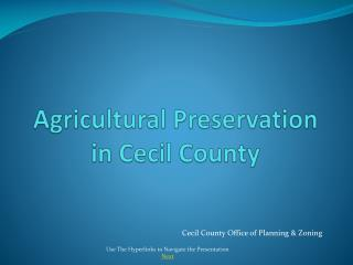 Agricultural Preservation in Cecil County