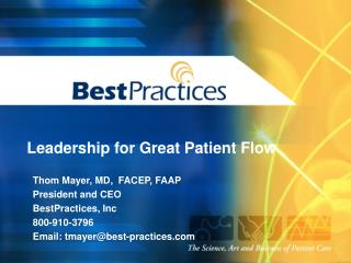 Leadership for Great Patient Flow