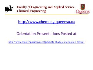 chemeng.queensu Orientation Presentations Posted at
