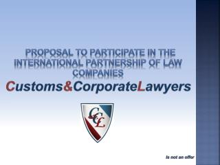 Proposal to participate in the international partnership of law companies