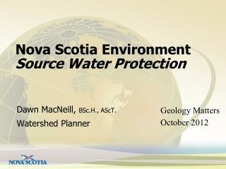 Nova Scotia Environment Source Water Protection