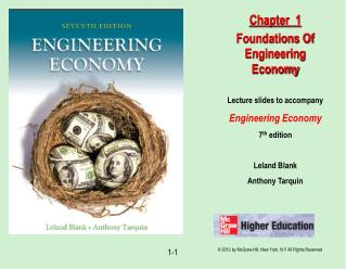 Lecture slides to accompany Engineering Economy 7 th  edition Leland Blank Anthony Tarquin
