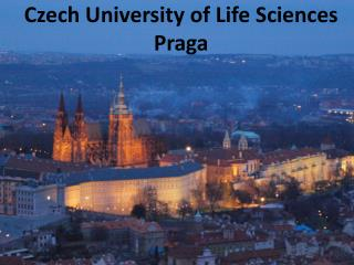 Czech University  of  Life Sciences Praga