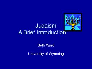 Judaism A Brief Introduction