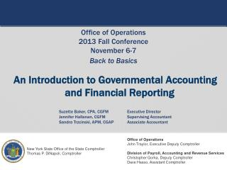 An Introduction to Governmental Accounting  and Financial Reporting