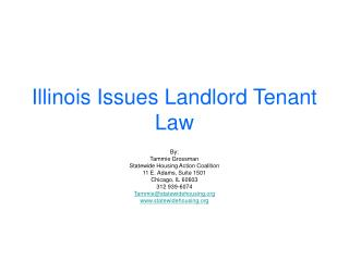 Illinois Issues Landlord Tenant Law