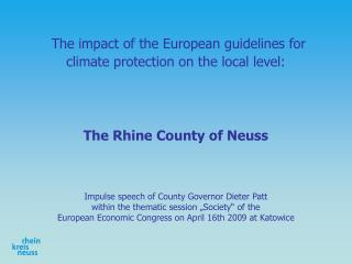 The impact of the European guidelines for climate protection on the local level: