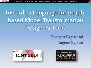 Towards a Language for Graph-based Model Transformation Design Patterns