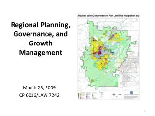 Regional Planning, Governance, and Growth Management