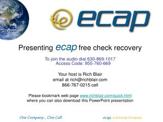 Presenting  ecap  free check recovery