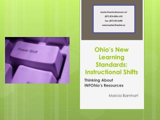 Ohio's New Learning Standards: Instructional Shifts