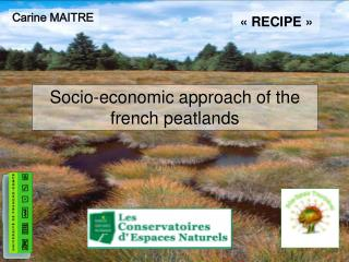 Socio-economic approach of the french peatlands