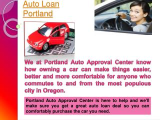 Bad Credit Car Loan Portland