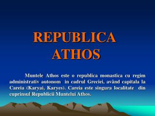 REPUBLICA  ATHOS