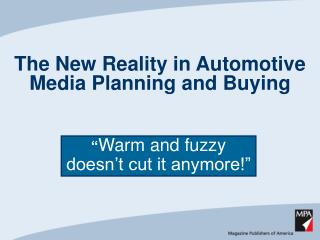 The New Reality in Automotive Media Planning and Buying