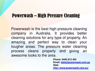 Best High Pressure Water Cleaning Services