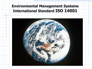 Environmental Management Systems International Standard  ISO 14001