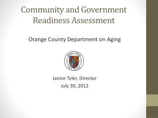 Community and Government Readiness Assessment