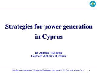 Strategies for power generation in Cyprus