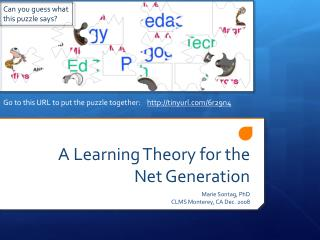 A Learning Theory for the Net Generation